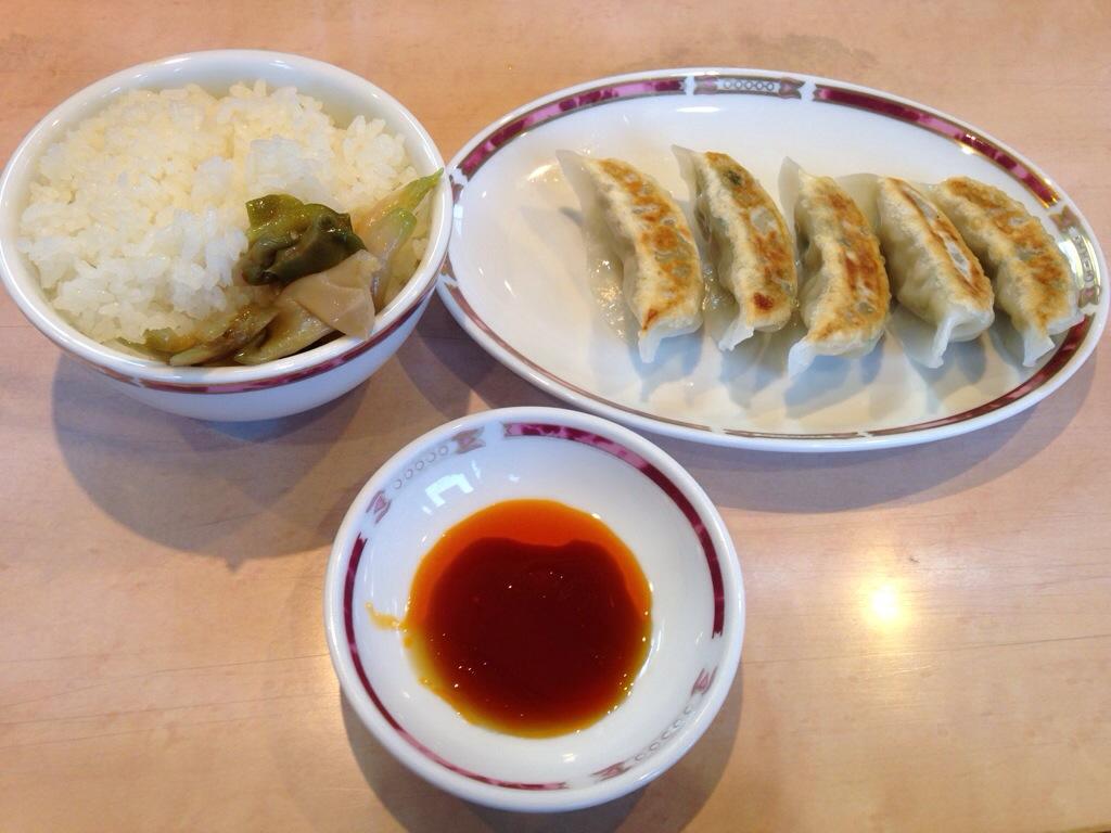 華風伝の餃子セット