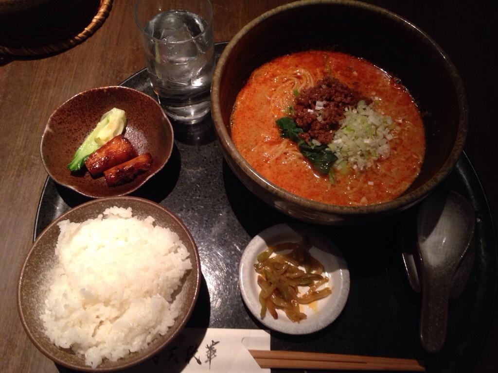 飛天散華の担々麺セット