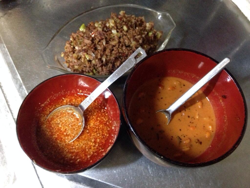 汁なし担々麺のタレと肉味噌