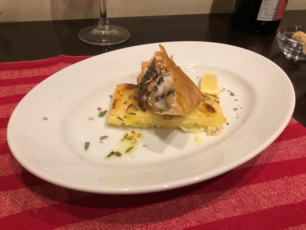 ギャロの魚のメイン料理